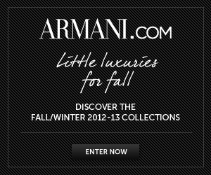 Armani.com Fall/Winter 2012 on Armani.com