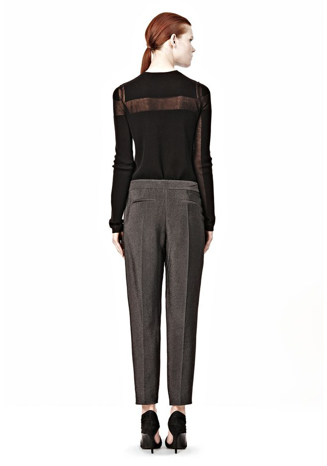Stingray embossed tucked front cigarette trouser pants alexander wang official site