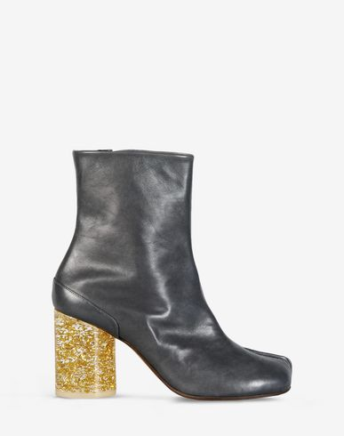 Maison Margiela Leather Tabi Boots With Plexi Heel Women