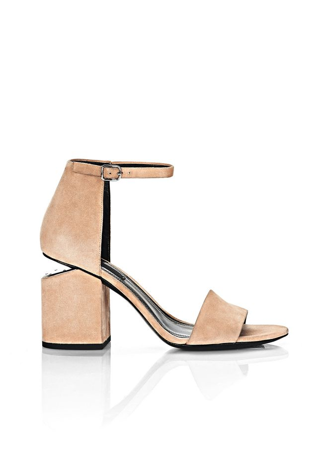ALEXANDER WANG Heels Women ABBY SUEDE SANDAL WITH RHODIUM