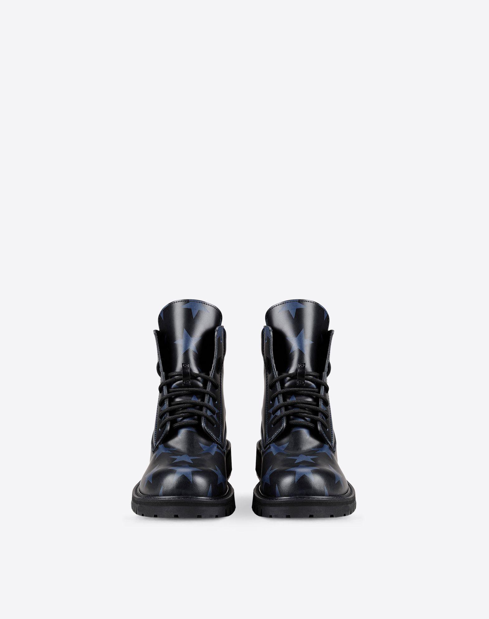VALENTINO Two-tone pattern Laces Rubber sole Round toeline Square heel  11017270uj