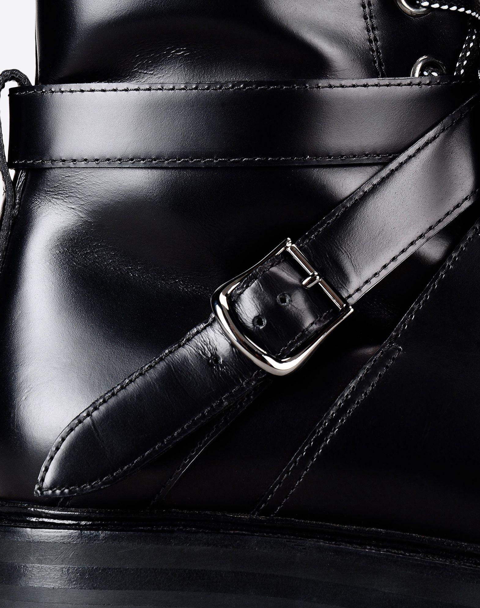 VALENTINO Lacing Buckle Solid color Zip closure Rubber sole Round toeline Square heel  11018050bi