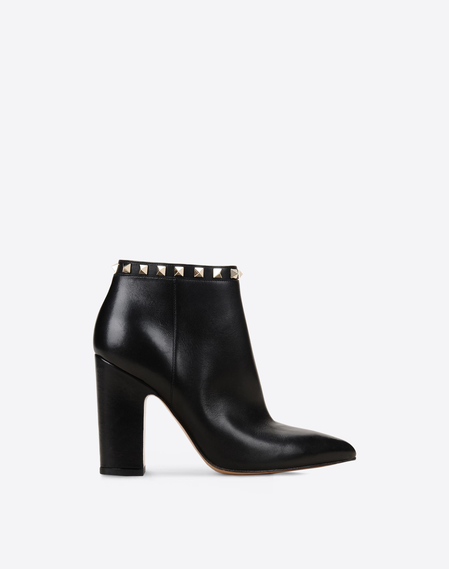 VALENTINO Studs Solid colour Zip closure Leather sole Narrow toeline Covered heel  11022519cc