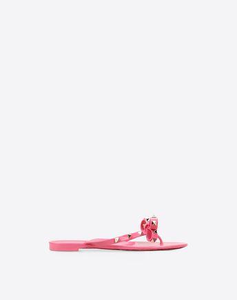 VALENTINO Rockstud PVC Toe Post Sandal 11022526IJ