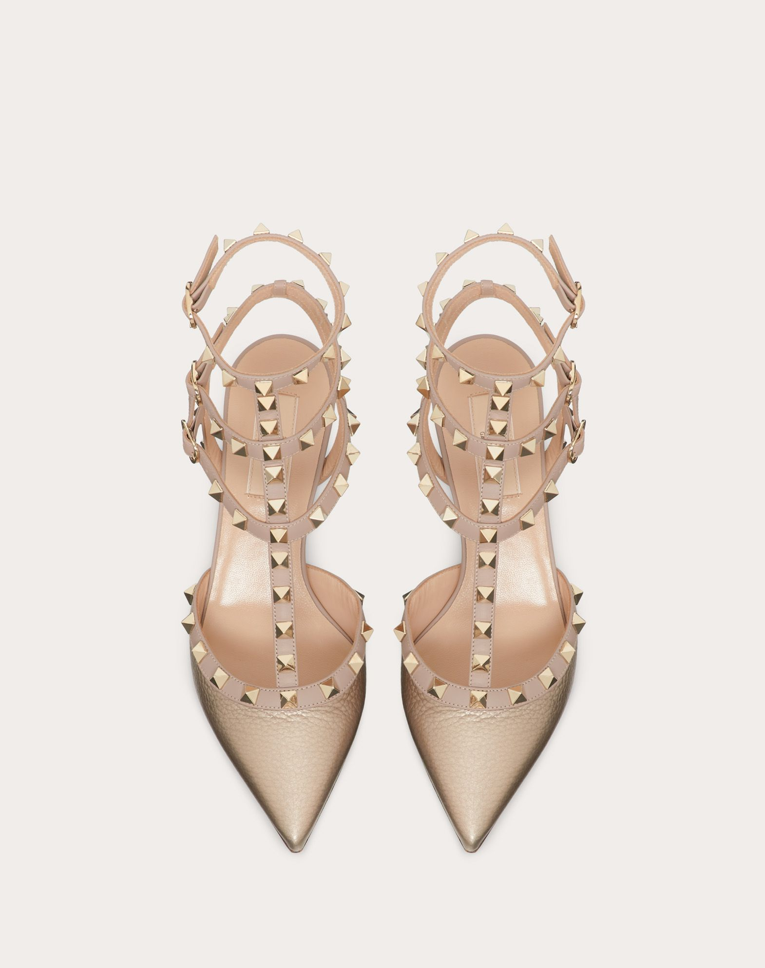 VALENTINO Two-tone Laminated effect Studs  11022531jw
