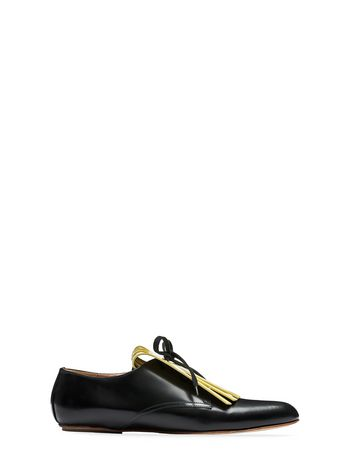 Marni Lace-up in two tone baby-calfskin, elongated toe Woman