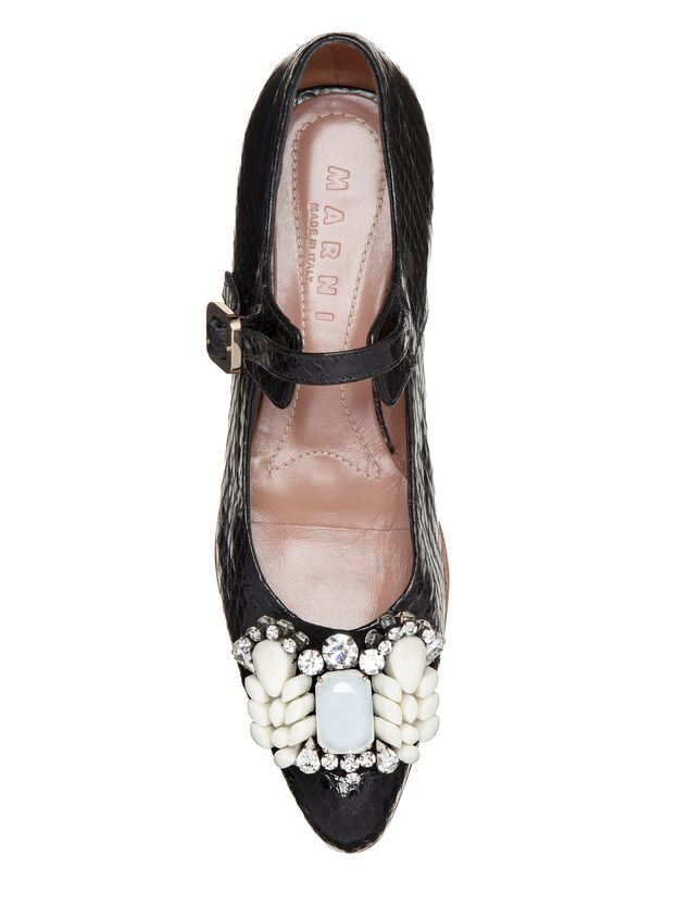 Marni Ballet flat in Ayers, beads in rubber and rhinestone Woman - 4