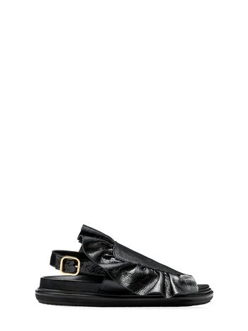 Marni Fussbett in varnished calfskin with ruffle  Woman