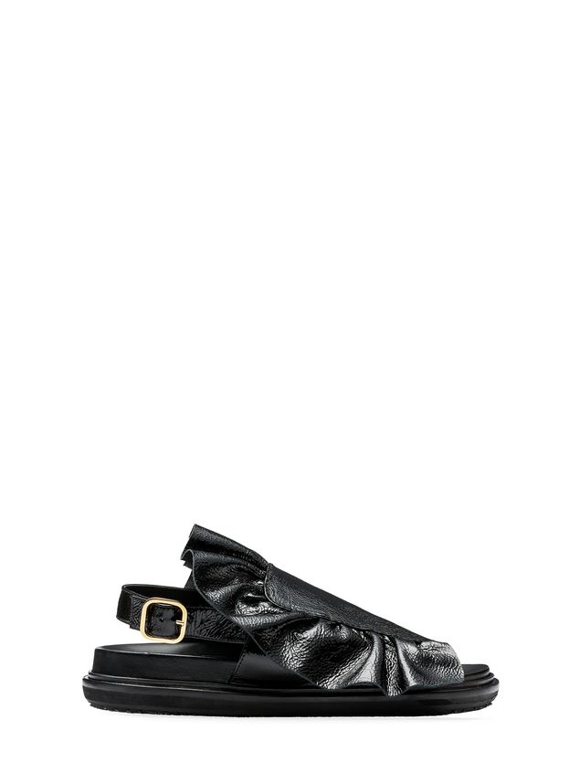 Marni Fussbett in varnished calfskin with ruffle  Woman - 1