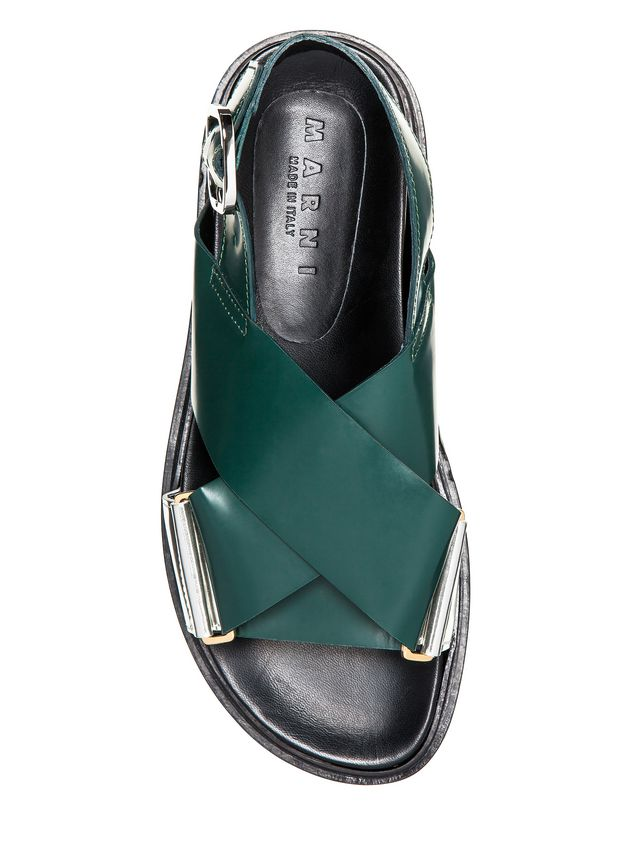 Marni Fussbett in laminated calfskin with contrasting insets Woman - 4