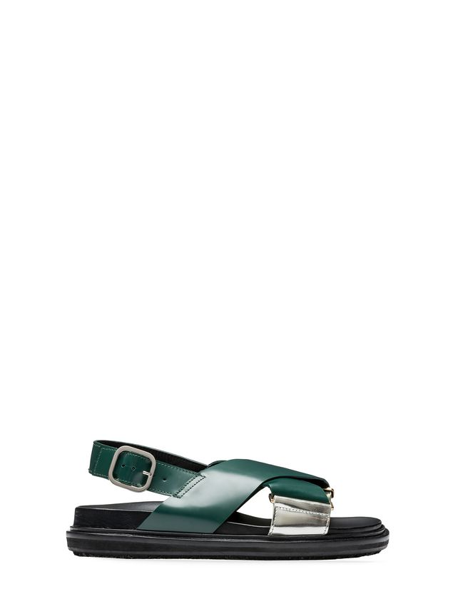 Marni Fussbett in laminated calfskin with contrasting insets Woman - 1