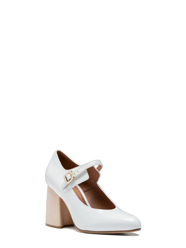 Marni Mary-Jane in varnished calfskin with wooden heel Woman - 2