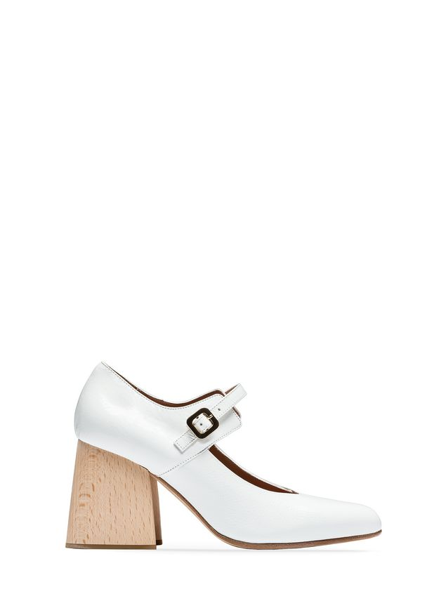 Marni Mary-Jane in varnished calfskin with wooden heel Woman - 1