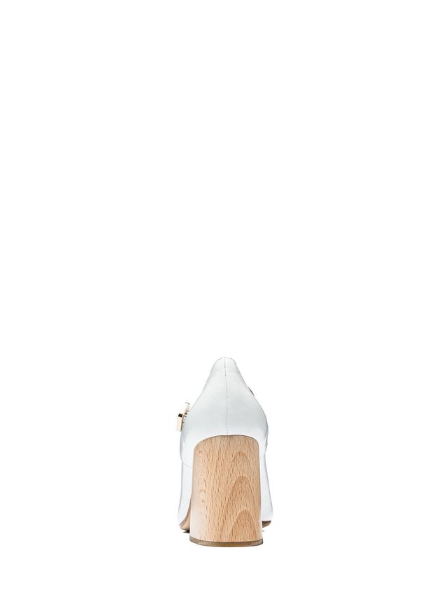 Marni Mary-Jane in varnished calfskin with wooden heel Woman - 3