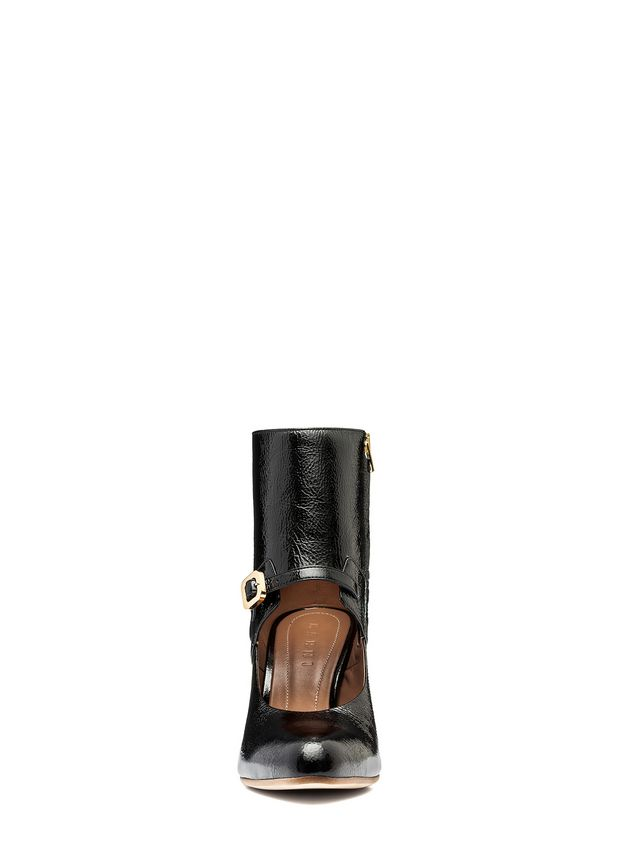 Marni Half boot in varnished calfskin with wooden heel Woman - 4