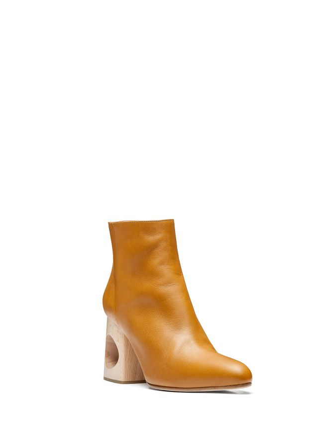 Marni Half boot in lambskin with wooden heel Woman - 2
