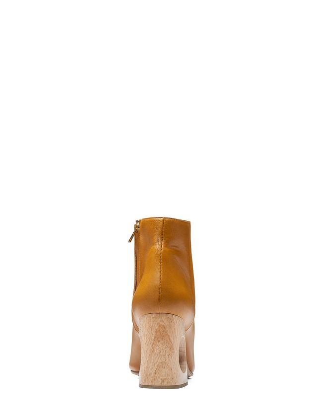 Marni Half boot in lambskin with wooden heel Woman - 3