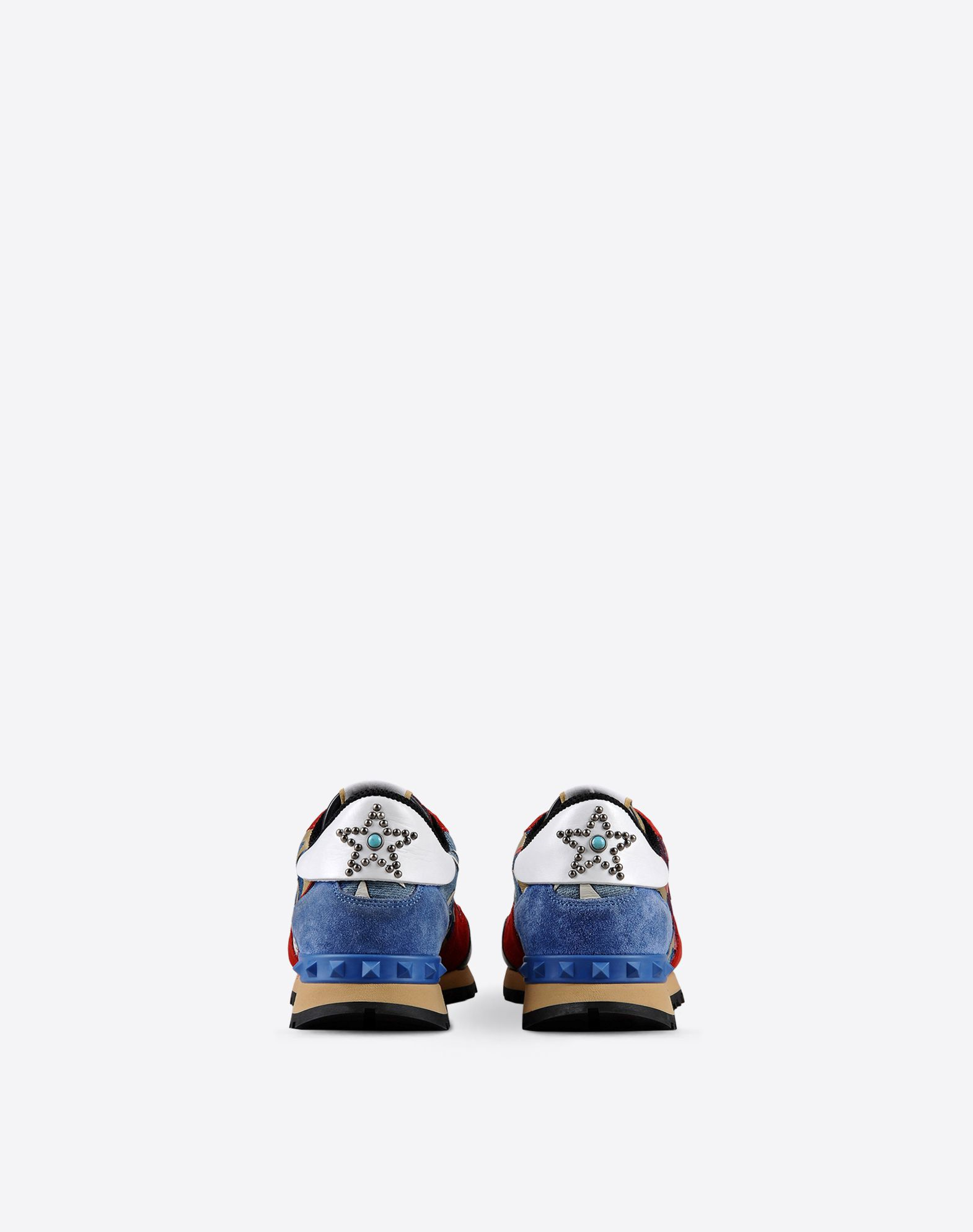 VALENTINO Contrasting applications Sueded Rubber sole  11027709tr