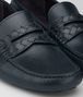 BOTTEGA VENETA WAVE DRIVER IN DARK NAVY CALF INTRECCIATO Mocassin or Slipper U ap