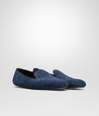 FIANDRA  SLIPPER AUS WILDLEDER IN PACIFIC INTRECCIATO