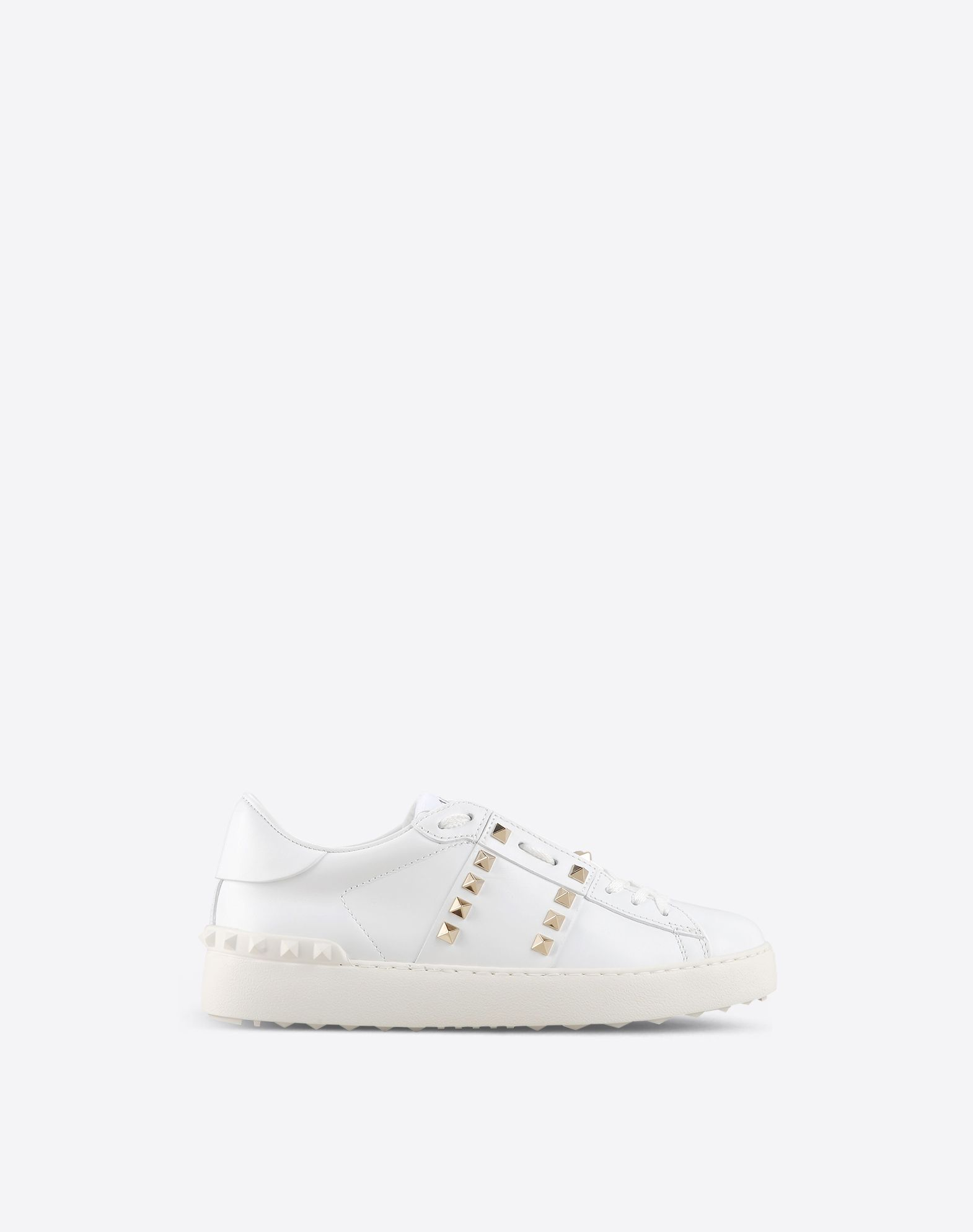 Valentino Garavani Studded Leather Sneakers - White Valentino MwDRWDzJAj