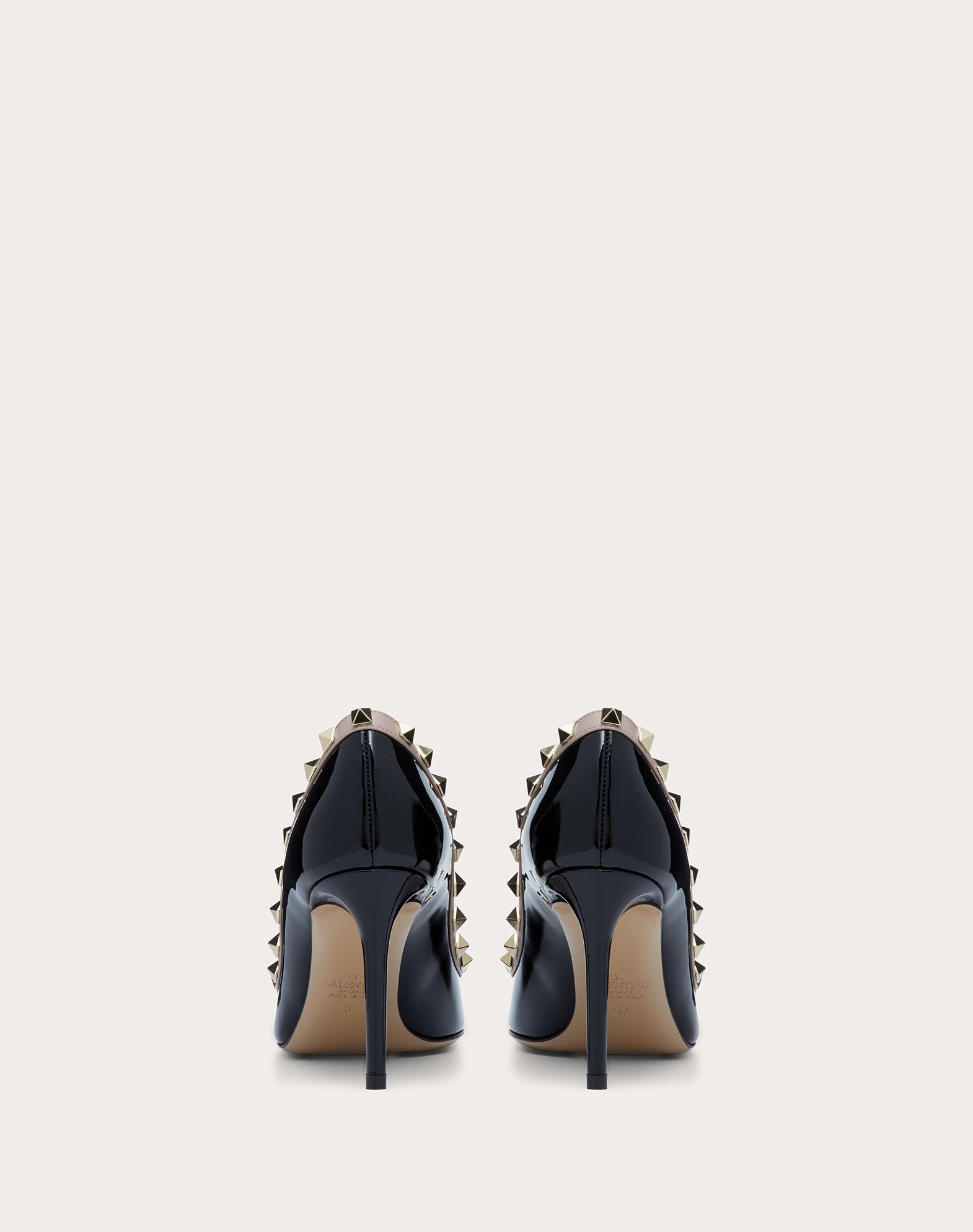 VALENTINO Two-tone Varnished effect Studs  11037197uc