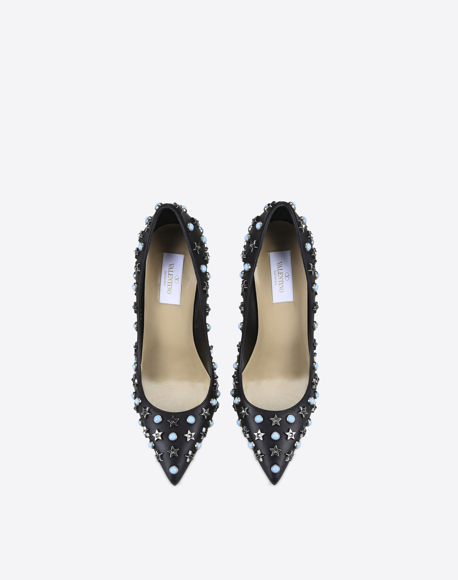 VALENTINO Metal Applications Solid color Leather sole Narrow toeline Spike heel  11037379gd