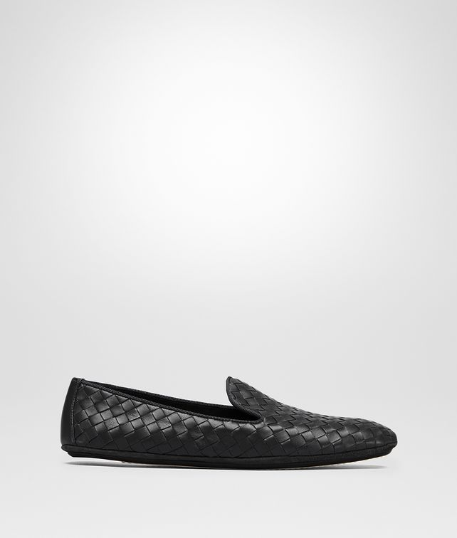 BOTTEGA VENETA FIANDRA SLIPPER IN NERO INTRECCIATO NAPPA Flat [*** pickupInStoreShipping_info ***] fp