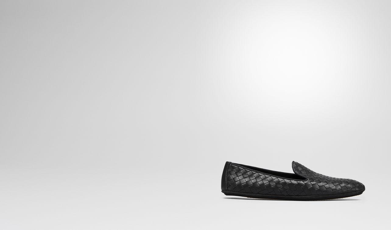 fiandra slipper in nero intrecciato nappa landing