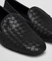 BOTTEGA VENETA FIANDRA SLIPPER IN NERO INTRECCIATO NAPPA Flat D ap