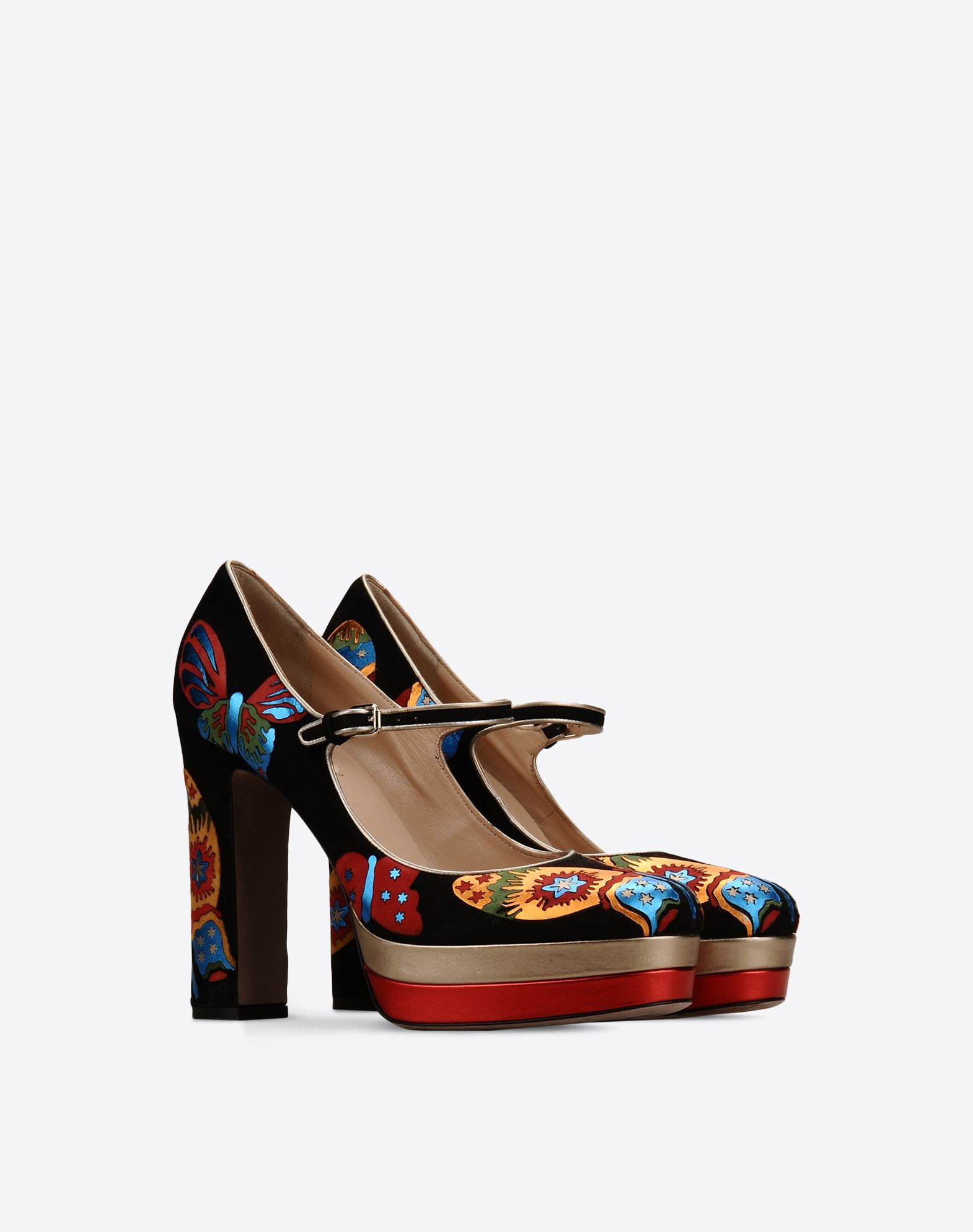VALENTINO Multicolor Pattern Laminated effect Buckle  11042307qr