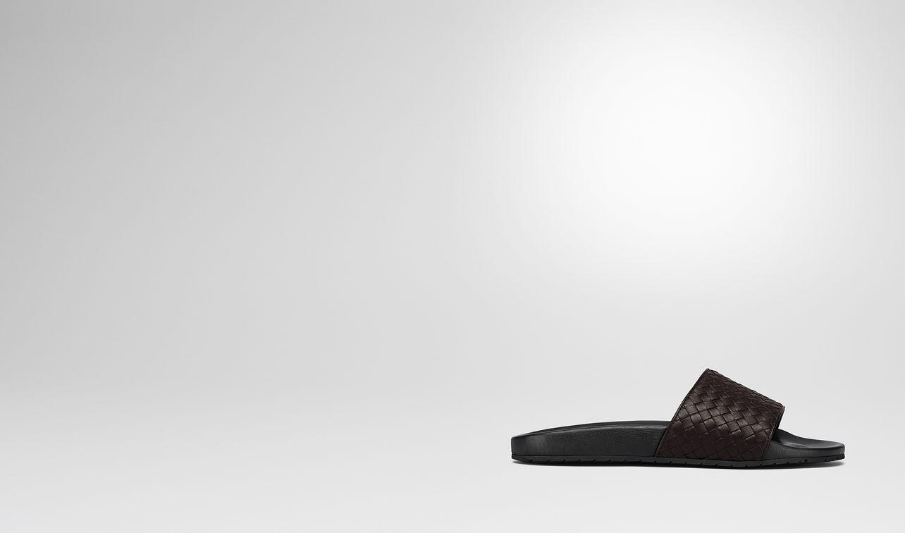 lake sandal in espresso intrecciato calf landing