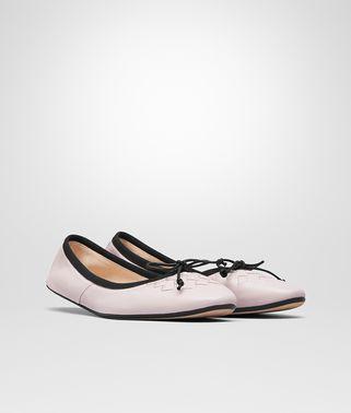 玫瑰粉编织小羊皮PICNIC芭蕾舞鞋