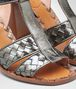 BOTTEGA VENETA RAVELLO SANDALS IN ARGENTO ANTIQUE INTRECCIATO CALF Pump or Sandal Woman ap