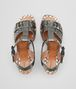 BOTTEGA VENETA RAVELLO SANDALS IN ARGENTO ANTIQUE INTRECCIATO CALF Pump or Sandal D ep