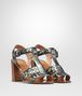 BOTTEGA VENETA RAVELLO SANDALS IN ARGENTO ANTIQUE INTRECCIATO CALF Pump or Sandal D rp