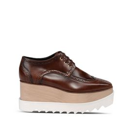 STELLA McCARTNEY Wedges D Mahogany Brogue Elyse Shoes f