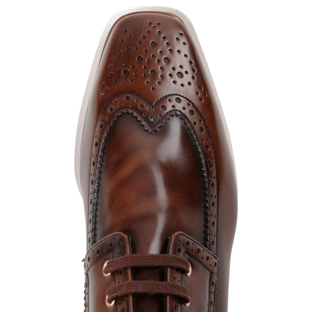 Mahogany Brogue Elyse Shoes - STELLA MCCARTNEY