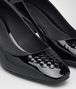 BOTTEGA VENETA CHERBOURG PUMPS IN NERO PATENT CALF, INTRECCIATO DETAILS Pump Woman ap