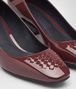 BOTTEGA VENETA CHERBOURG PUMPS IN BAROLO PATENT CALF, INTRECCIATO DETAILS Pump or Sandal D ap