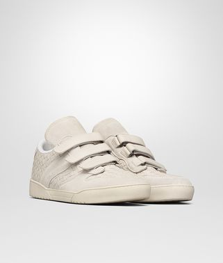 HEEZE SNEAKER IN MIST SUEDE AND INTRECCIATO CALF