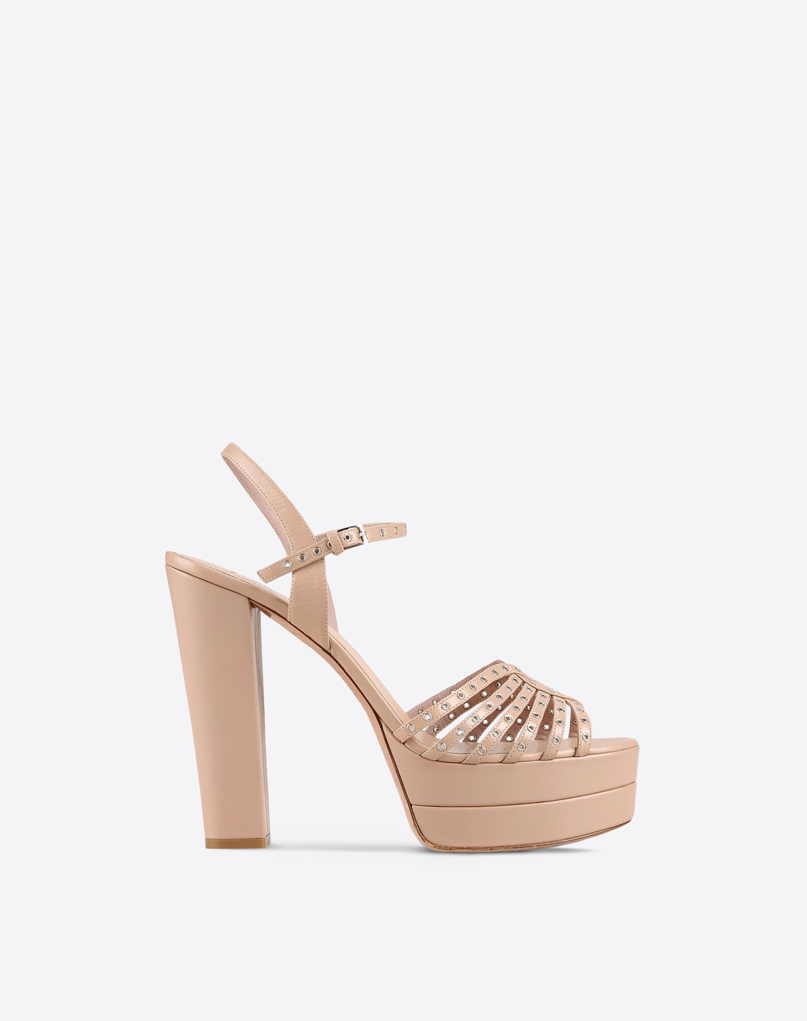 VALENTINO Studs Solid colour Buckling ankle strap closure  11054406uo