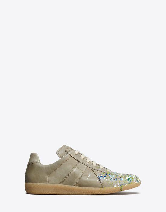 a9f64c597a0 Maison Margiela Paint Drop'Replica' Sneakers Men | Maison Margiela ...