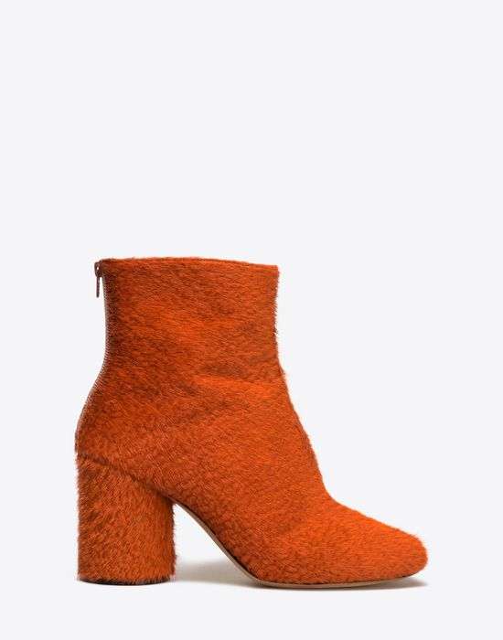 MAISON MARGIELA 22 Embossed calfhair 'Socks' ankle boots Ankle boots D f