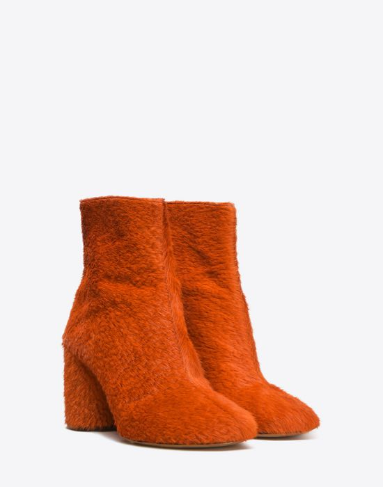 MAISON MARGIELA 22 Embossed calfhair 'Socks' ankle boots Ankle boots D r