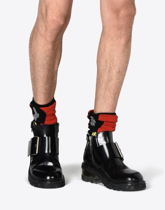 fb2bcda18ffc1 Maison Margiela Metal Heeled Buckle Boots Men   Maison Margiela Store