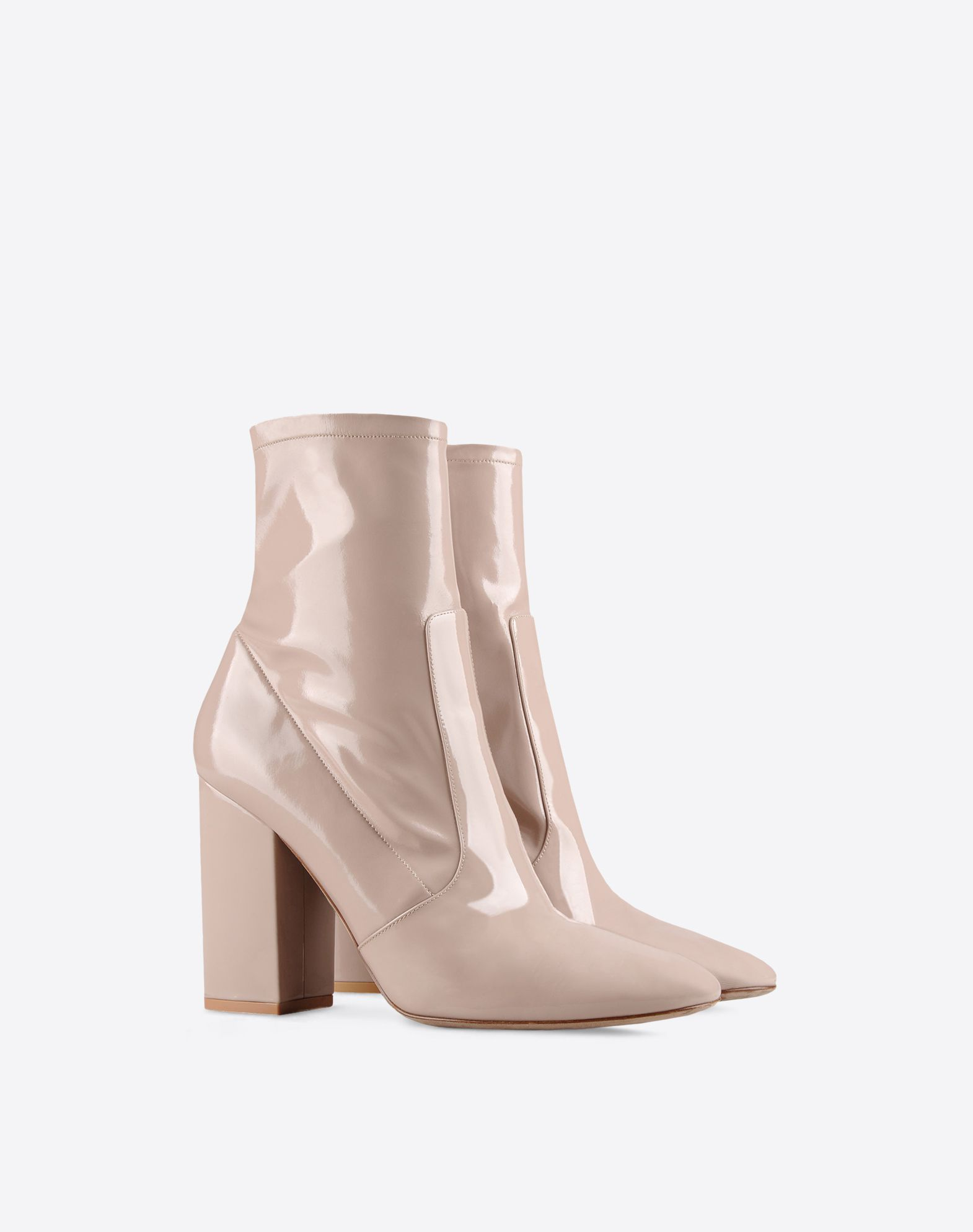 VALENTINO Solid colour Zip closure Round toeline Covered heel Leather sole  11056393tp