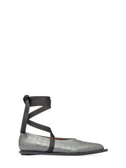 Marni Ballet flat in croc print calfskin Woman