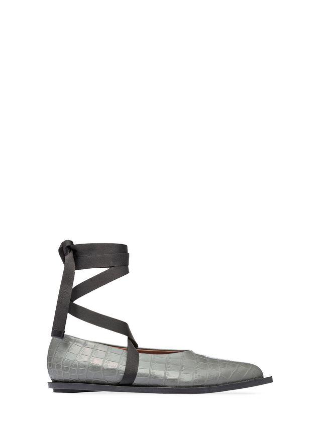 Marni Ballet flat in croc print calfskin Woman - 1
