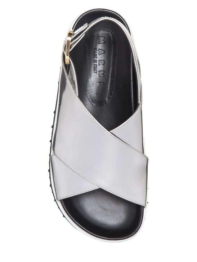 Marni Fussbett crossover in laminated calfskin Woman - 4